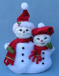 "Annalee 5"" Christmas Delights Duo Snowmen - Mint - 550312"