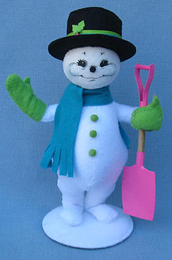 """Annalee 9"""" Winter Whimsy Snowman - Mint - 550412"""