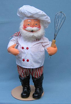 """Annalee 20"""" Chef Santa with Wisk - Mint - 563203"""