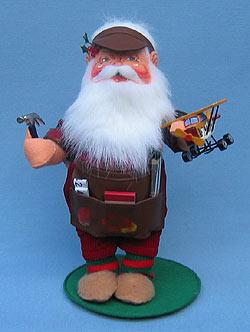 """Annalee 13"""" Workshop Santa with Airplane & Hammer - Mint - 581003"""