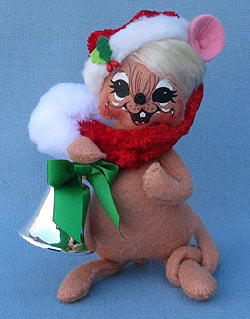 "Annalee 6"" Silver Bells Mouse - Mint - 600212"