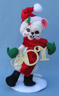 "Annalee 6"" Joy to the World Mouse - Mint - 600312"