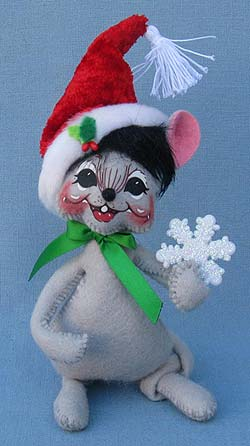 "Annalee 6"" Christmas Mouse with Snowflake Mouse - Mint - 600412"