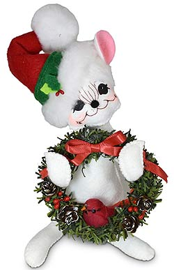 """Annalee 6"""" Yuletide Mouse 2021 - Mint - 610321"""