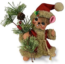 "Annalee 6"" Rustic Pine Bough Mouse 2019 - Mint - 610419"
