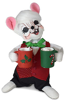 """Annalee 6"""" Holiday Cheer Cocoa Boy Mouse 2021 - Mint - 610521"""