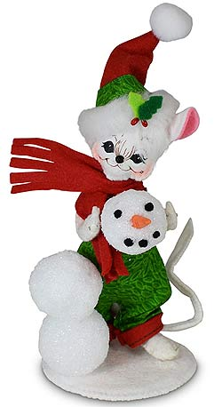 "Annalee 5"" Very Merry Snowman Mouse 2020 - Mint - 610620"