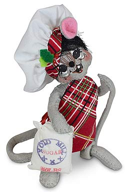 "Annalee 5"" Sugar & Spice Chef Mouse 2020 - Mint - 610720"