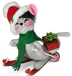 "Annalee 6"" Ski Mouse 2021* - Mint - 610721"