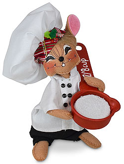 "Annalee 6"" Measuring Cup Chef Mouse 2020 - Mint - 610920"