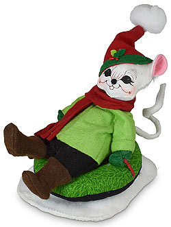 """Annalee 6"""" Very Merry Tubing Mouse 2020 - Mint - 611120"""