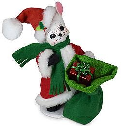 "Annalee 6"" Very Merry Santa Mouse with Toy Sack 2020 - Mint - 611320"