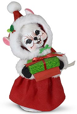 """Annalee 6"""" Very Merry Mrs Santa Mouse 2020 - Mint - 611420"""