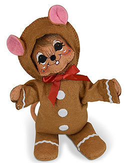 "Annalee 6"" Wannabe a Gingerbread Man Mouse 2019 - Mint - 611719"