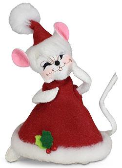 "Annalee 6"" Wannabe a Santa Hat Mouse 2020 - Mint - 611920"