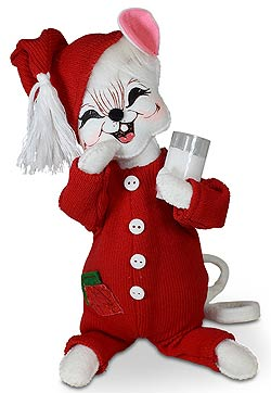 """Annalee 8"""" Christmas Whimsy PJ Nightshirt Mouse 2020 - Mint - 612020"""