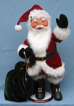 """Annalee 30"""" Classic Santa - Mint - 621003"""