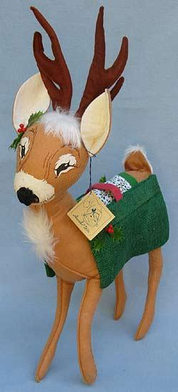 "Annalee 18"" Reindeer with Saddlebags - Mint - 660090sq"