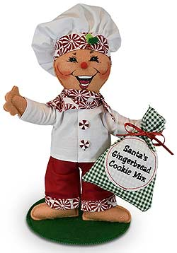 "Annalee 9"" Gingerbread Cookie Chef 2019 - Mint - 660319"
