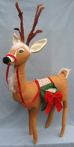 "Annalee 36"" Reindeer with Saddlebags - Excellent - 670089a"