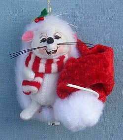 "Annalee 3"" MerryMint Mouse Ornament 2014 - Mint - 700014"