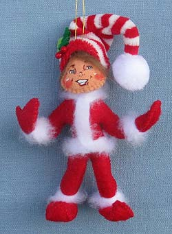 """Annalee 4"""" MerryMint Elf Ornament 2014 - Mint - 700214"""