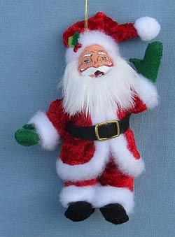 """Annalee 5"""" Classic Santa Ornament 2014 - Mint - 700314"""