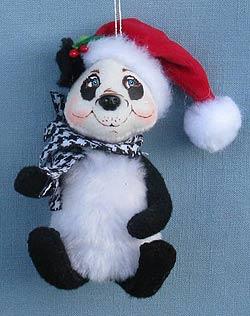 "Annalee 3"" Classy Panda Ornament 2014 - Mint - 700414"