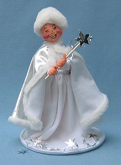 """Annalee 10"""" New Years Snow Queen with Wand - Mint / Near Mint - 700892"""