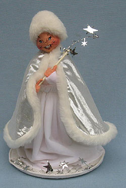 "Annalee 10"" New Years Snow Queen with Wand - Excellent - 700892a"