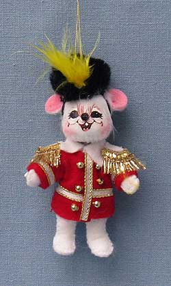 """Annalee 3"""" Marching Band to Christmas Mouse Ornament - Mint - 700909"""