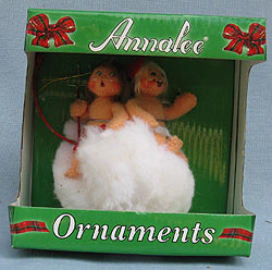 """Annalee 3"""" Naughty or Nice Baby Angel Ornament - Excellent - 700910a"""