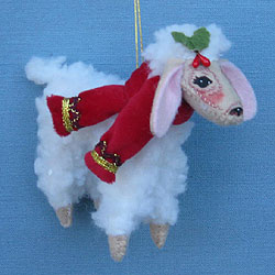 "Annalee 4"" Christmas Delights Lamb Ornament - Mint - 700912"