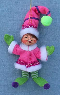 """Annalee 4"""" Winter Whimsy Elf Ornament - Mint - 701011"""