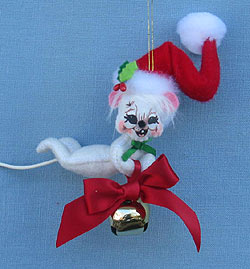 """Annalee 3"""" Ring in the Season Mouse Ornament 2014 - Mint / Near Mint - 701214"""