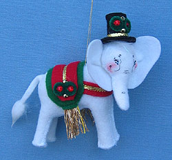 "Annalee 4"" Elegant Elephant Ornament - Mint - 701608"