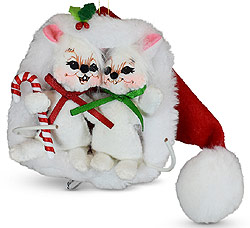 """Annalee 3"""" Very Merry Mice in Hat Ornament 2020 - Mint - 710020"""