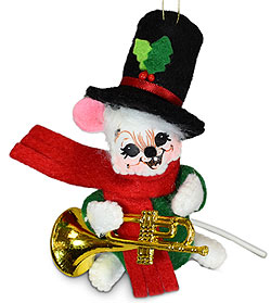 """Annalee 3"""" Music Mouse Ornament 2021 - Mint - 710121"""