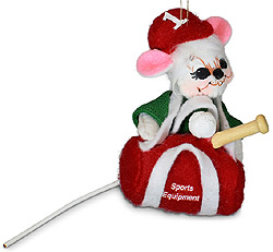 """Annalee 3"""" Sporty Mouse Ornament 2021 - Mint - 710221"""