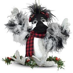 "Annalee 4"" Winter Woods Chickadee Ornament 2021 - Mint - 710521"