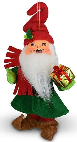 """Annalee 5"""" Gnome for the Holidays Ornament 2021 - Mint - 710621"""
