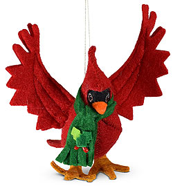 "Annalee 4"" Christmas Cardinal Ornament 2020 - Mint - 710720"