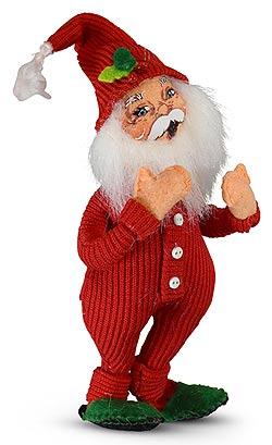 "Annalee 5"" Long John's Santa Ornament 2020 - Mint - 711020"