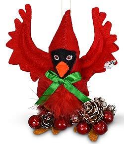 "Annalee 4"" Cardinal Ornament 2021 - Mint - 711121"