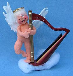 "Annalee 7"" Angel Playing Harp - Mint/ Near Mint - 711195w"