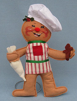 "Annalee 10"" Cookie Cook Gingerbread Boy - Mint - 729698a"