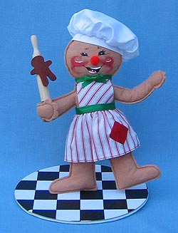 """Annalee 10"""" Cookie Cook Gingerbread Girl - Mint - 729798"""