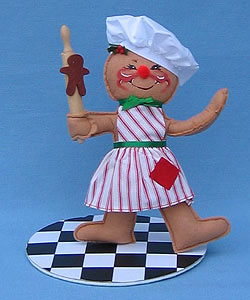 """Annalee 10"""" Cookie Cook Gingerbread Girl - Mint - 729798ox"""