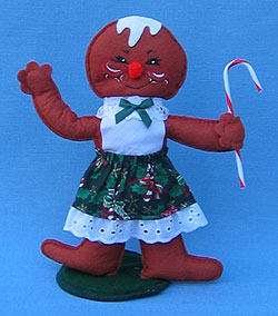 """Annalee 10"""" Christmas Cookie Gingerbread Girl - Mint - 729899ox"""