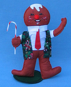 """Annalee 10"""" Christmas Cookie Gingerbread Boy - Mint - 729999"""